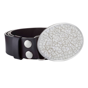 JOS4011 Crackle Oval Buckle