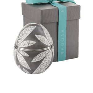 AVOOVA Jewellery Box - Three Leaves - Grey