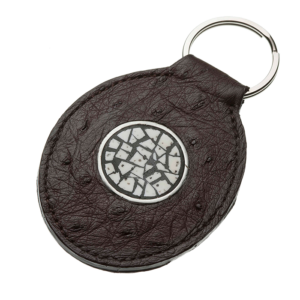 Ostrich-Leather-Key-Chain